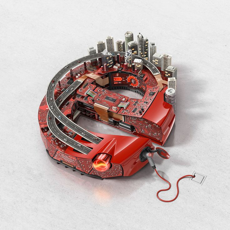 """Series of key visuals for the exhibition """"Electronica Munich 2014"""" reflecting the three main subjects of the event: 'Electronics and Urban Space', 'Electronics and Transportation' and 'Electronics in Industry'."""