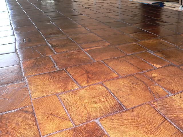 Barnwood Bricks endcut oak wood tile flooring