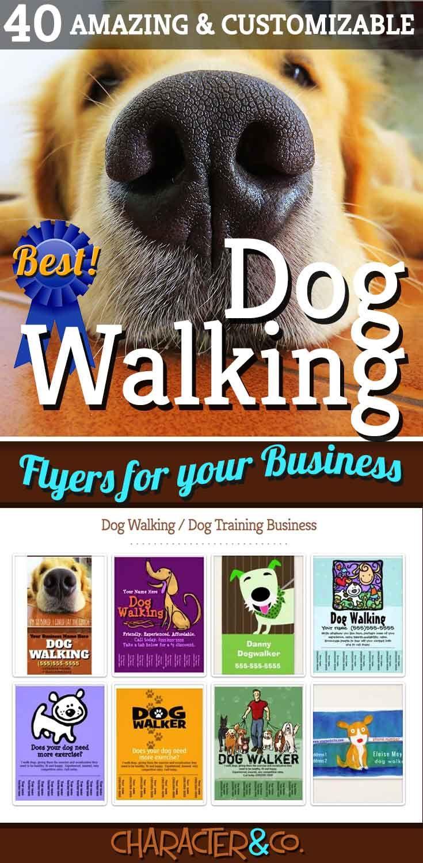 40 Amazing Customizable Dog Walking Flyers To Promote Your Dog