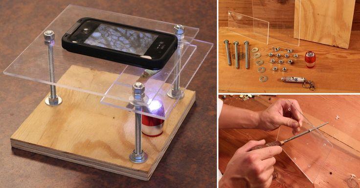 Aprende cómo construir paso a paso un microscopio utilizando un smartphone y diviértete investigando los detalles más pequeños de todo lo que te rodea.