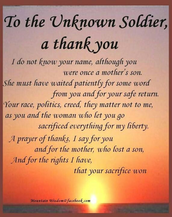 Unknown Soldiers--GOD BLESS YOU ALL   THANK YOU FOR SERVING OUR GREAT COUNTRY!!!
