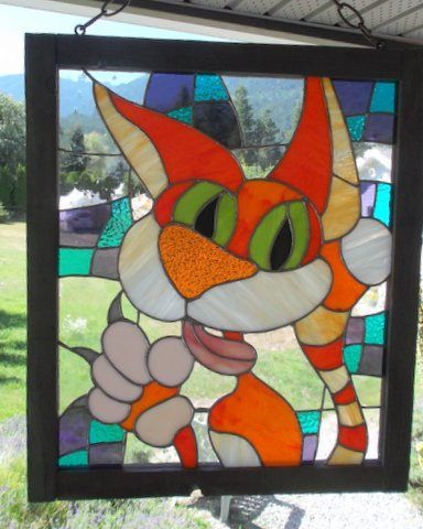 https://flic.kr/p/vqvHgs   stained glass cat   stained glass cat