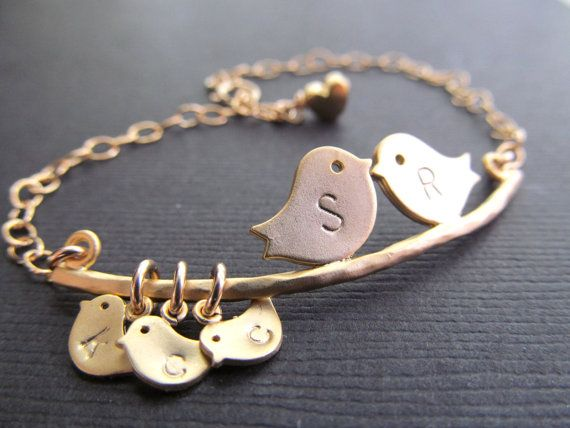 Mothers Jewelry, Initial Bracelet, Couple Initials Children Initials Bracelet, Mothers Necklace, Baby Shower Gifts, Valentine's Day, For Mom on Etsy, $33.00