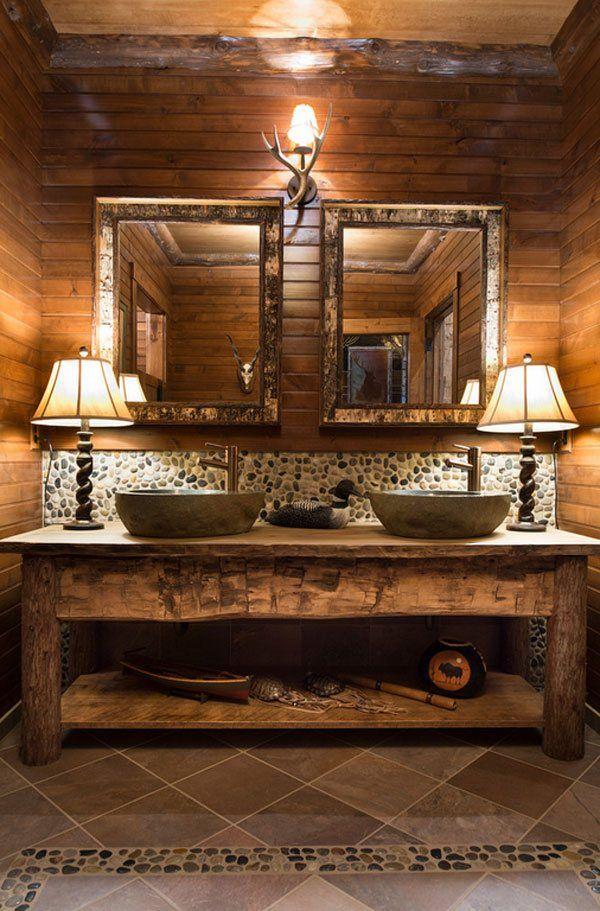 Beeindruckende Ideen von Rustikal Badezimmer Eitelkeit