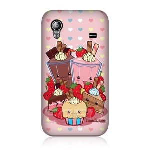 Ecell - HEAD CASE KAWAII CAKES AND SHAKES MENU DESIGN CASE FOR SAMSUNG GALAXY ACE S5830: Amazon.co.uk: Electronics