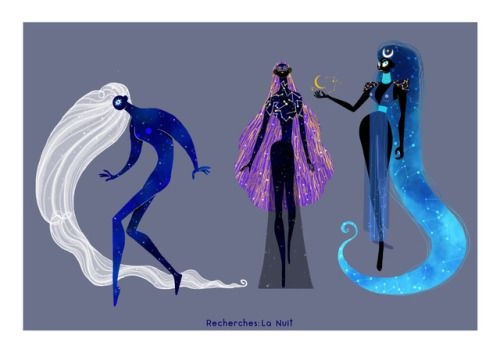 Character design for a personnal project inspired by La Nuit from Claude Roy.