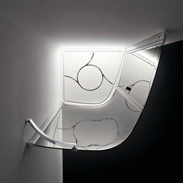 Duschavskärmning Aqua i Italiensk design och made in Italy. #interior #bathroom