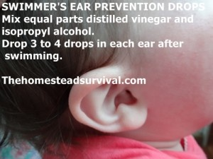 SWIMMER'S EAR PREVENTION DROPS » The Homestead Survival