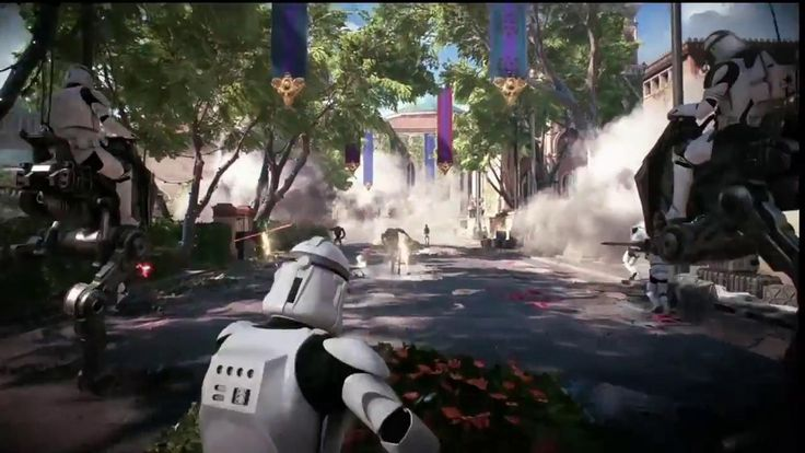 Star Wars Battlefront 2: Assault on Theed Multiplayer Gameplay Demo -- E3 2017: EA Play 2017 EA gives E3 attendees the first look at Assault on Theed it's big sequel for Star Wars Battlefront. Watch phase one of the battle as the Clone Troopers and the Battle Droids tear up the battlefield. June 10 2017 at 09:22PM  https://www.youtube.com/user/ScottDogGaming