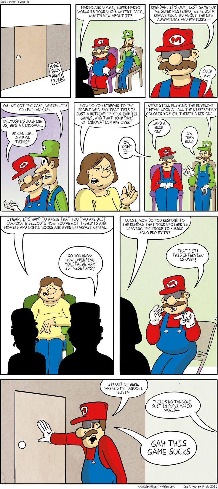 Super Mario World Press Tour