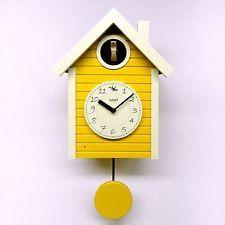 Scandinavian color Teru made in Japan's cuckoo clocks yellow ? QL694YE