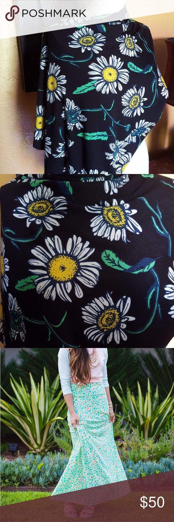🔶️JUST IN🔶️Lularoe Daisy Maxi Skirt Sz XL Gorgeous maxi skirt with band from lularoe.  Sz XL. Waist 34, fits as 18/20 pants.  These do run a little large in my opinion. NWT. About 45 in long. Pic 3 is for style and fit. LuLaRoe Skirts Maxi