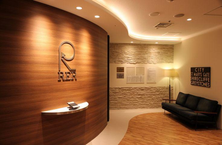 ダイナミックなアールで演出する、重厚感と高級感のあるオフィス |オフィスデザイン事例|デザイナーズオフィスのヴィス
