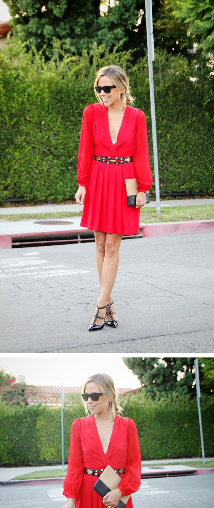 "Harlyn Dress {c/o} // Valentino Heels // Céline Clutch {purchased at Dressed} // Old BCBG belt // Albeit ""J"" Necklace"