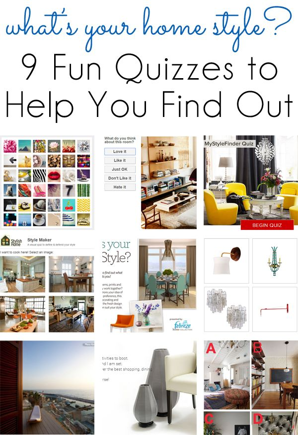 Style Inspiration 9 Fun Quizzes To Find Your Home Design Style Home Decor Styles Interior Design Styles Quiz Style Quizzes