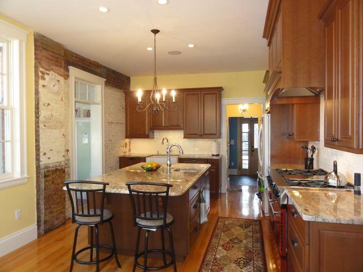 Long kitchen re please show me your 36 39 42 39 aisles for Show kitchen islands