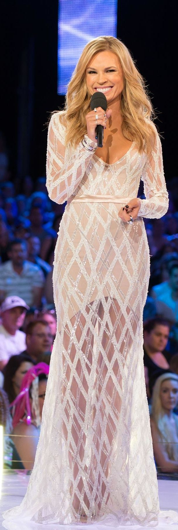 Paolo Sebastian designer...Sonia Kruger, host of Australia's Big Brother