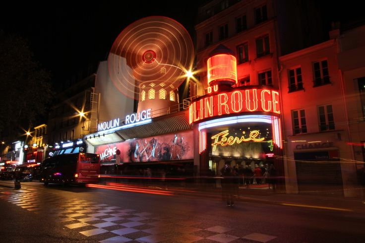 Le Moulin Rouge, Paris. We stumbled upon it by accident lol
