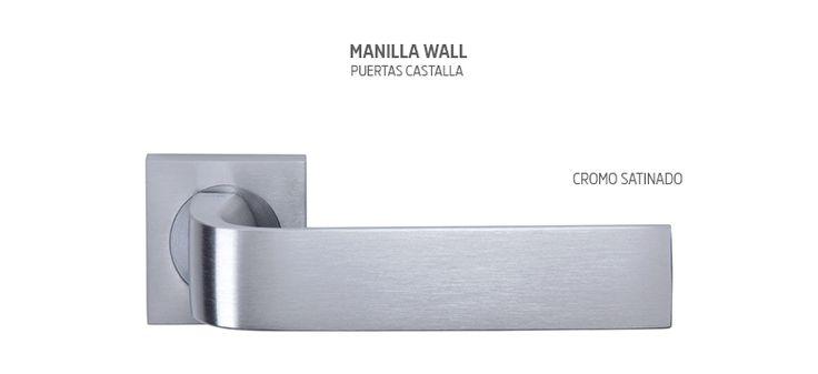 Manilla para puertas de interior modelo Wall en tres acabado diferentes. Consulta más opciones en nuestra web www.puertascastalla.com