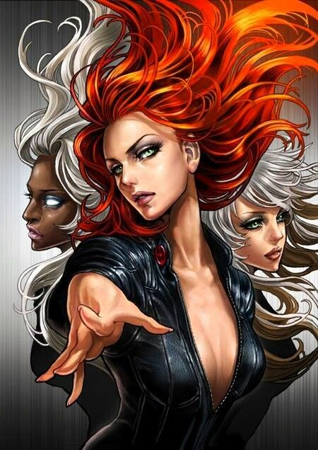 Storm  Jean Grey  and Rogue