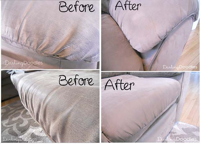How To Clean A Microfiber Couch (or Sofa) - this TOTALLY works, just use straight rubbing alcohol, do NOT add water!  IMPRESSIVE RESULTS!