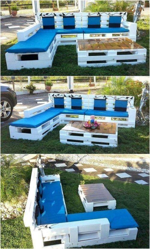 Pallet garden furniture: current ideas for summer 2018  – Gartenparty/Sommerparty Ideen