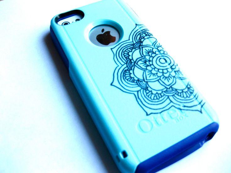 Mandala Flower Pattern Otterbox iPhone 5C case, case cover iphone 5c otterbox ,iphone 5c otterbox case,otterbox iphone 5C, otterbox by JoeBoxx on Etsy