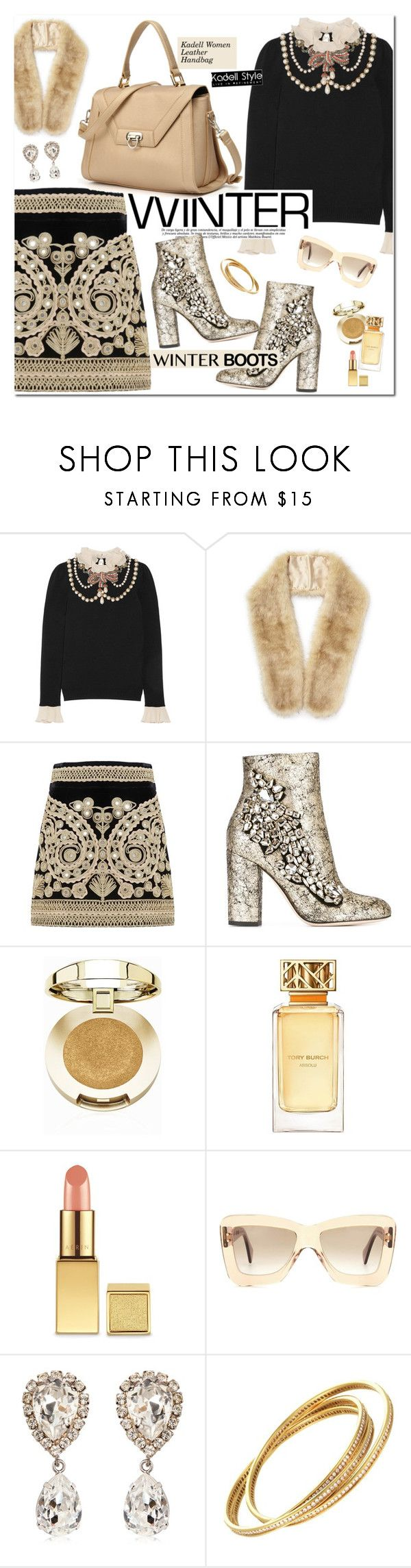 """Kadell Bag"" by oshint ❤ liked on Polyvore featuring Gucci, Miss Selfridge, For Love & Lemons, GEDEBE, Milani, Tory Burch, Roksanda, Dolce&Gabbana and Cartier"