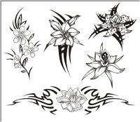 Tribal Flower Rib Tattoos: Helloo! This is Kiara from Hawaii. In my views a nice flower with tribal designs behind it with swirls looks very nice on ribs areas. They are really mind