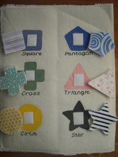 Quiet Book Shape Sorting Page