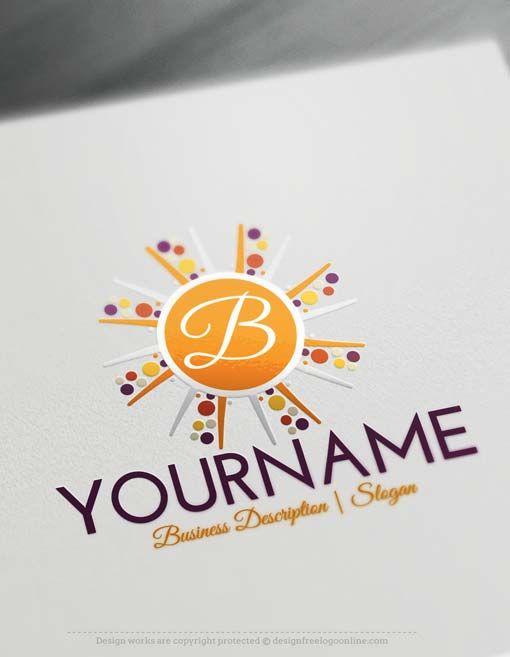 Free Logo Maker Make Your Own Alphabet Sun Logo