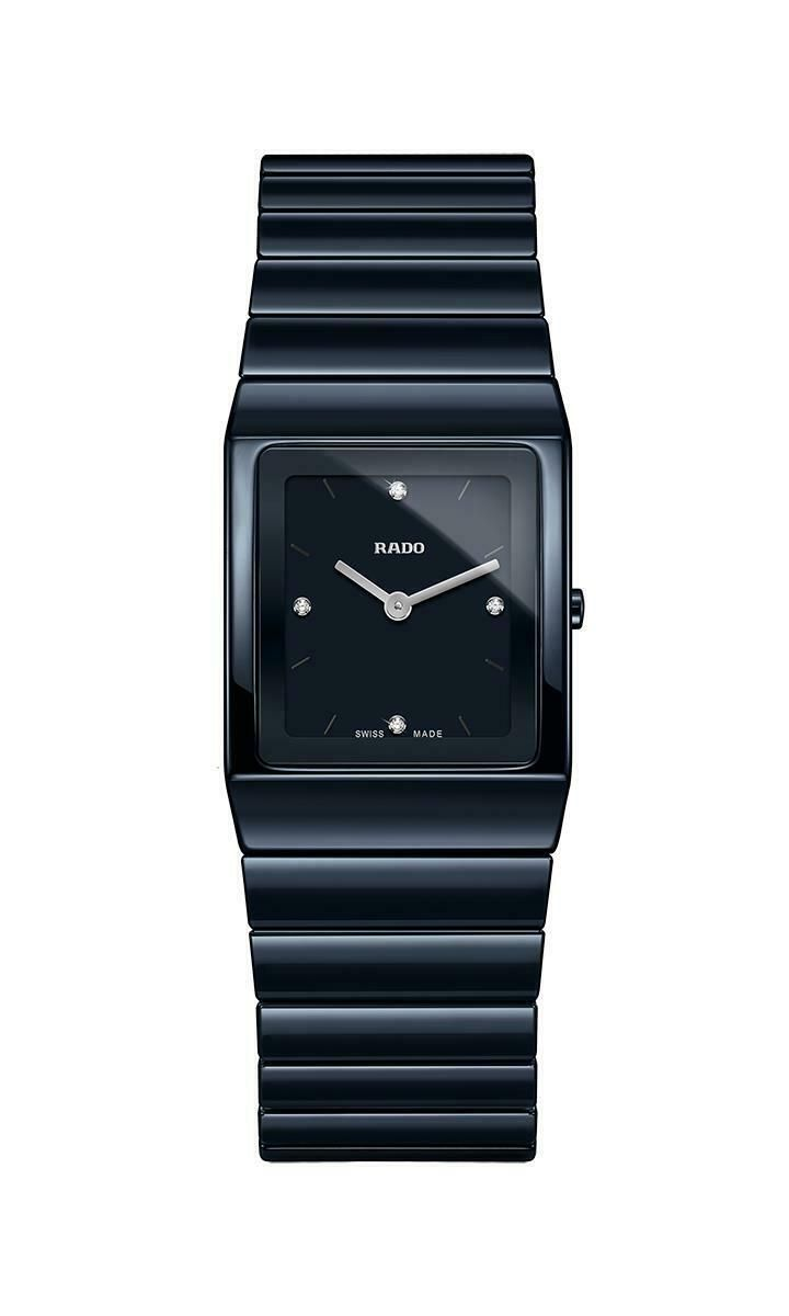 Rado Blue Ceramica Diamonds Ladies Quartz Watch R21994702 Rado Watches Women Ceramic Watch Watch Design