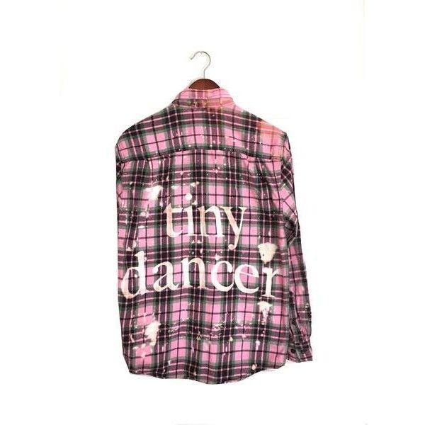 Tiny Dancer Shirt in Pink Plaid Flannel (94 CAD) ❤ liked on Polyvore featuring tops, vintage flannel shirts, plaid top, pink flannel shirt, pink top and pink plaid shirt
