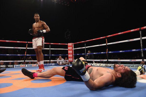 Raphael Zumbano Love and Anthony Joshua Photos: Matchroom Boxing