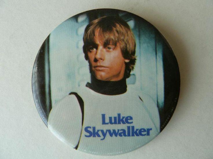 Star Wars Luke Skywalker Original 1977 Large Button Badge     http://www.ebay.co.uk/itm/Star-Wars-Luke-Skywalker-Original-1977-Large-Button-Badge-/370782537092