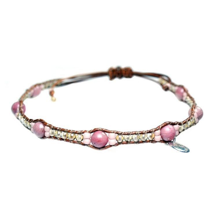 Anklets for women Classic -  Rhodonite