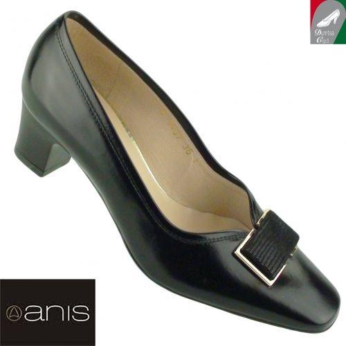 Anis  fekete bőr alkalmi cipő 3457 fekete