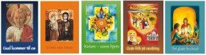 En serie af bøger, der bruges til trosundervisning af børn i skoler, menigheder og til trosundervisning af egne børn derhjemme.     Overblik 1. Gud kommer til os 2. Vores ven Jesus 3. Kirken vort hjem 4. Guds folk på vandring 5. Det glade budskab 6. Kirkens historie På vej med Kristus er bispedømmets program til undervisning af ... Læs mere