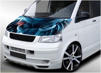 "'Predator"" digitally printed VW Transporter vinyl wrap, will fit both T4 and T5"