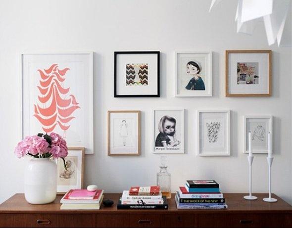 Art Arrangement & Tabletop: Birds Prints, Wall Art, Living Rooms, Pictures Group, Galleries Wall, Interiors Design, Photos Display, Frames Arrangements, Wood Frames