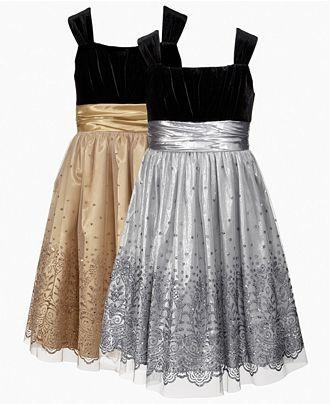 Rare Editions Kids Dress, Girls Glitter Dress   Web ID: 595354