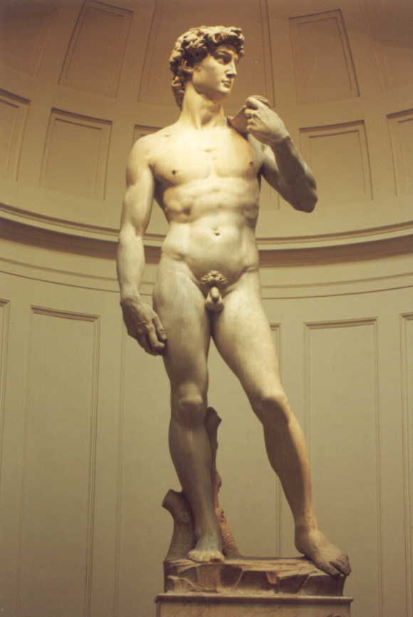 Michelangelo Buonarrotti, David, 1503, Galleria della Academia, Florencia