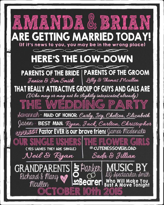 The 25+ Best Funny Wedding Programs Ideas On Pinterest Funny   Wedding  Program Inclusions