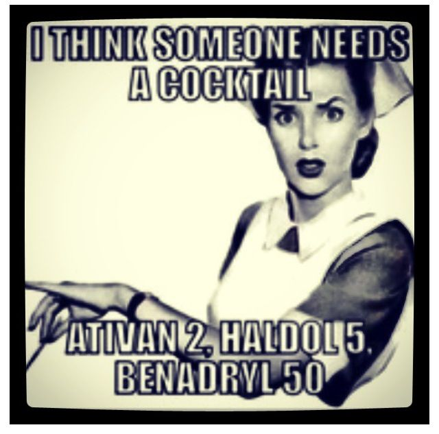 Nursing humor I need a cocktail