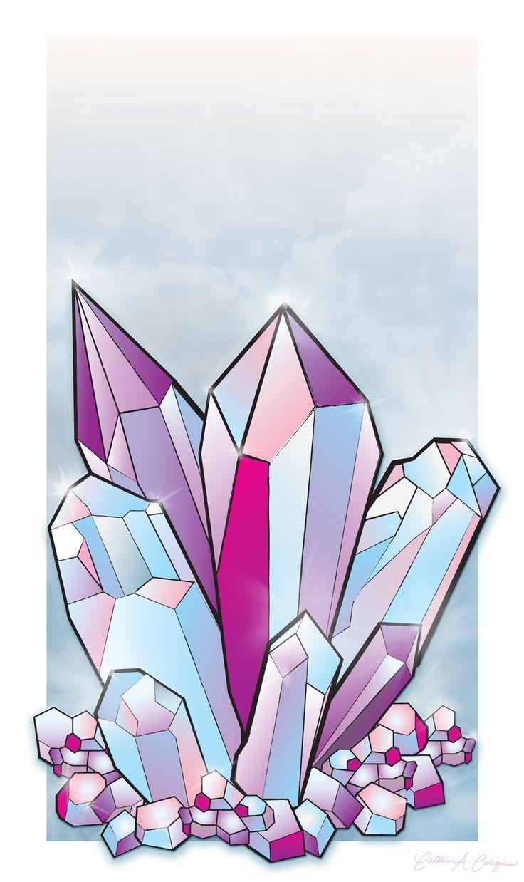 картинки срисовать кристаллы братан