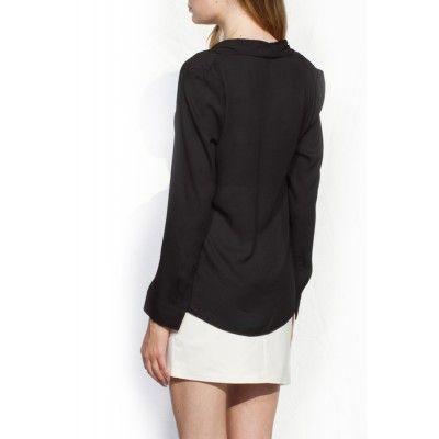 Noir&Blanc - Drape Shirt Black - Kotyr.com