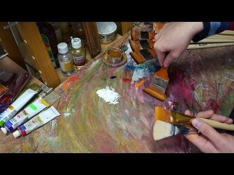 Модернизация кистей. Технические советы в масляной живописи. Modernization of artistic brush - YouTube