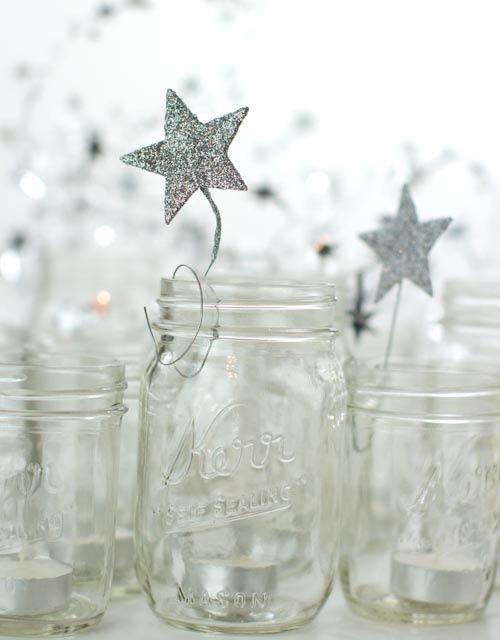 kleine Ornamente mit Draht befestigen