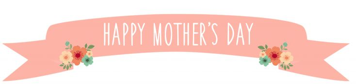 "Another freebie to make your Mother's day extra special! This comes in 30"" x 8.5"" so print it on 3 card stock sheets, take it to a copy shop, or size it down to fit your needs! I just used 3 card stock sheets and tape (not the prettiest look but it works!). The banner also didn't look quite as pink as the lighting in the photo makes it out to be! Download below!"