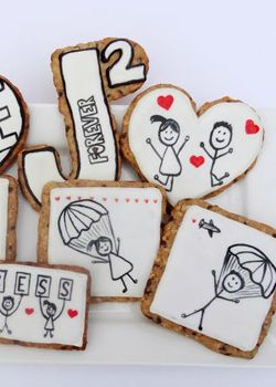 Oatmeal Chocolate Chip Cut-Out Cookie Recipe, Love Cookies and An Awesome Wedding